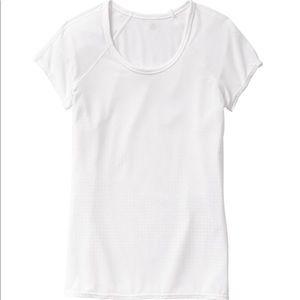 Athleta Burnout Life Force White T-shirt Medium